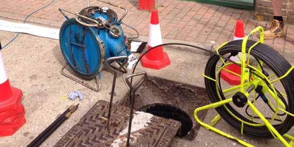 CCTV survey of drain