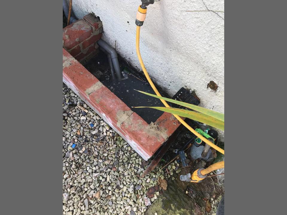 Overflowing drain